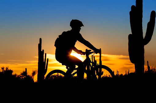 Mountain Biking Sunset Scottsdale
