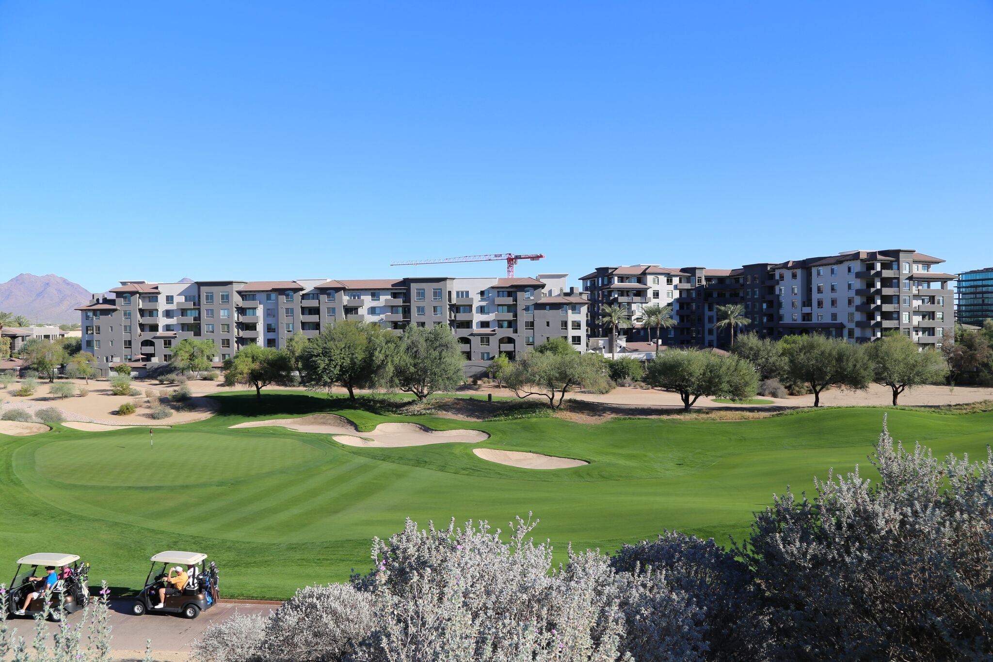 A view of The Landmark Condominium from the Westin Kierland Golf Course.