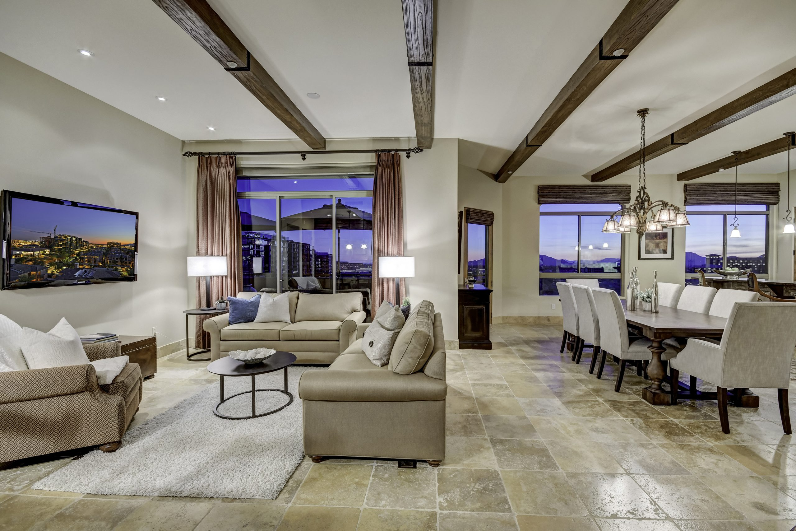 Best Luxury Scottsdale Condo Unit 752 Living/Dining Area