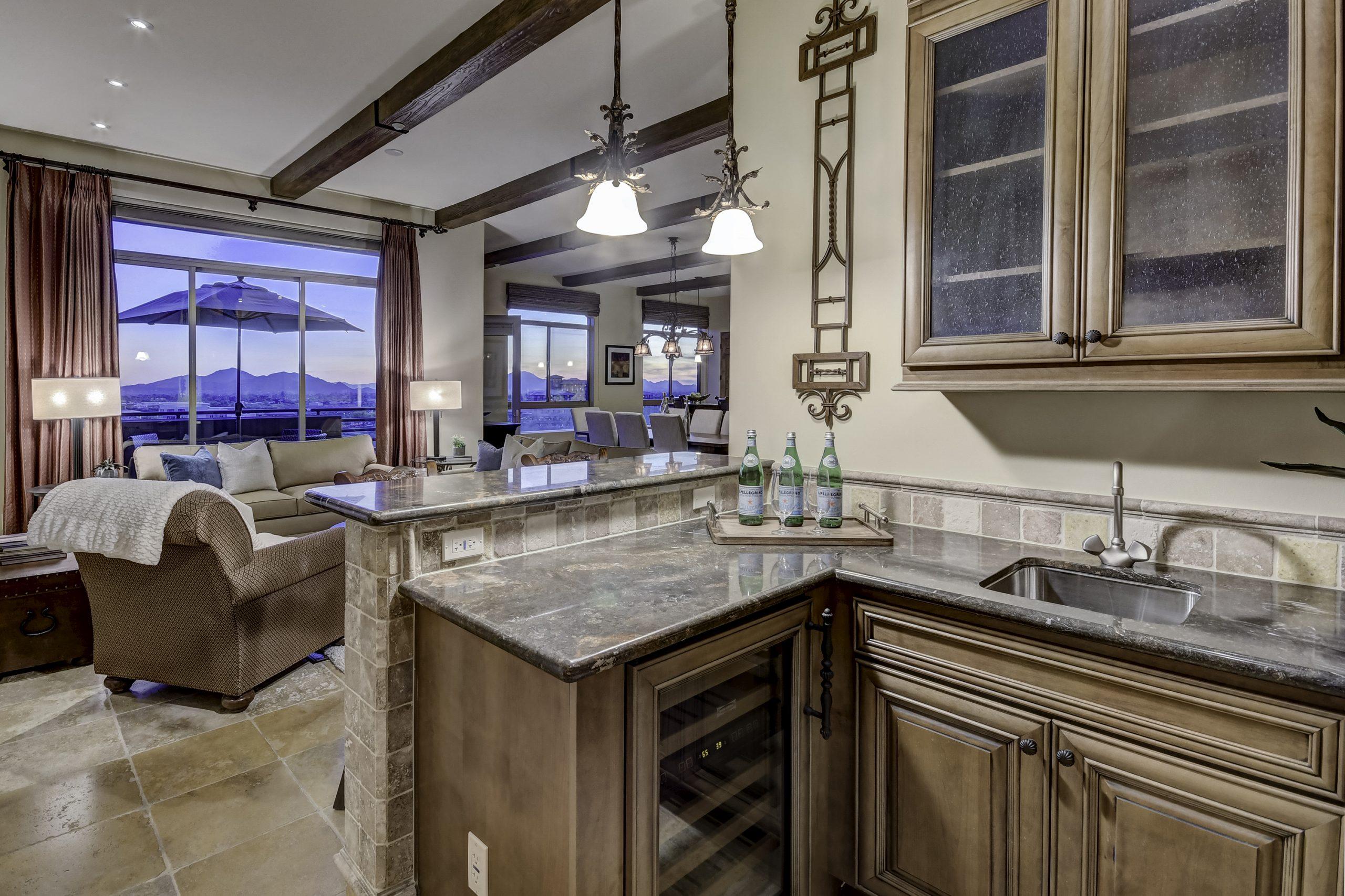 The Landmark Condominium Unit 752 Wet Bar View